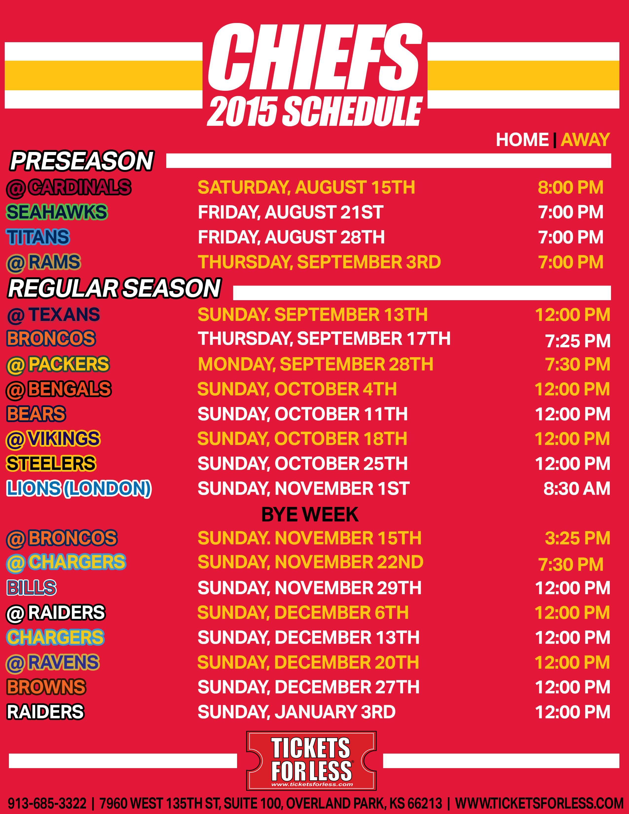 This is a photo of Remarkable Kansas City Chiefs Printable Schedule