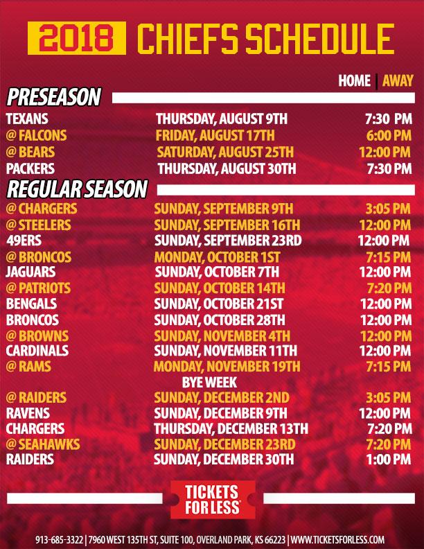 Kansas City Chiefs  Schedule